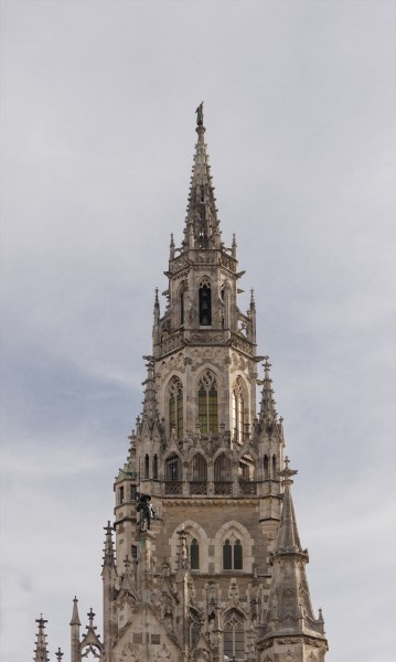 Top spire city hall Munich