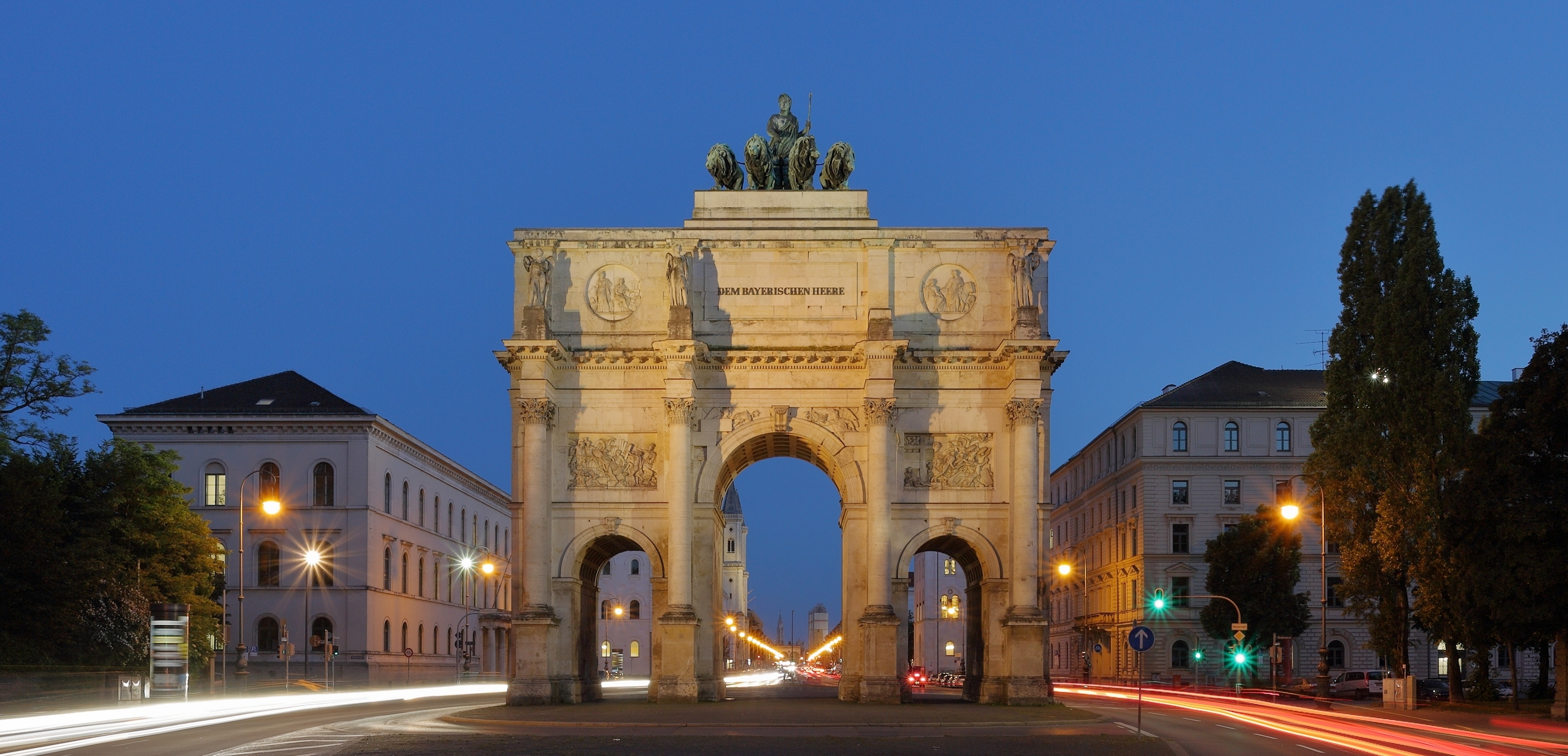 Siegestor Munich at Dusk