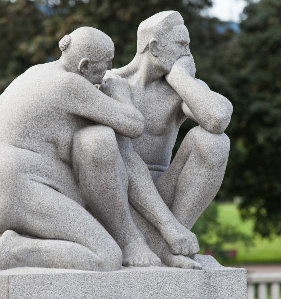 statues in Vigeland park in Oslo, Norway, June 2014, picture 33