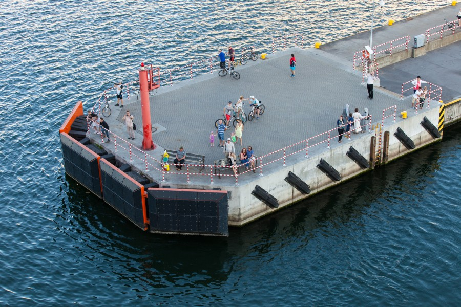 a platform in port Gdynia, Poland, Baltic sea, June 2014