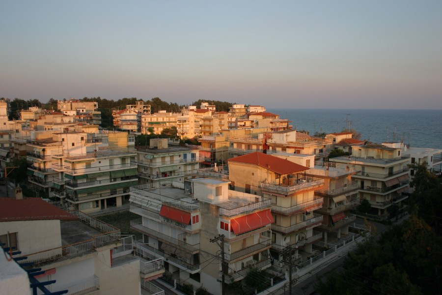 Kallikratia, Chalkidiki, Greece - View on city