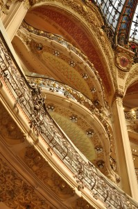 Interior of Galeries Lafayette Haussmann Paris 001