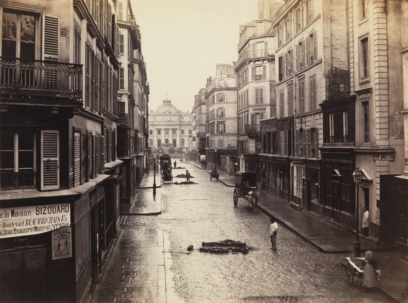 Rue de Constantine, Paris, by Charles Marville