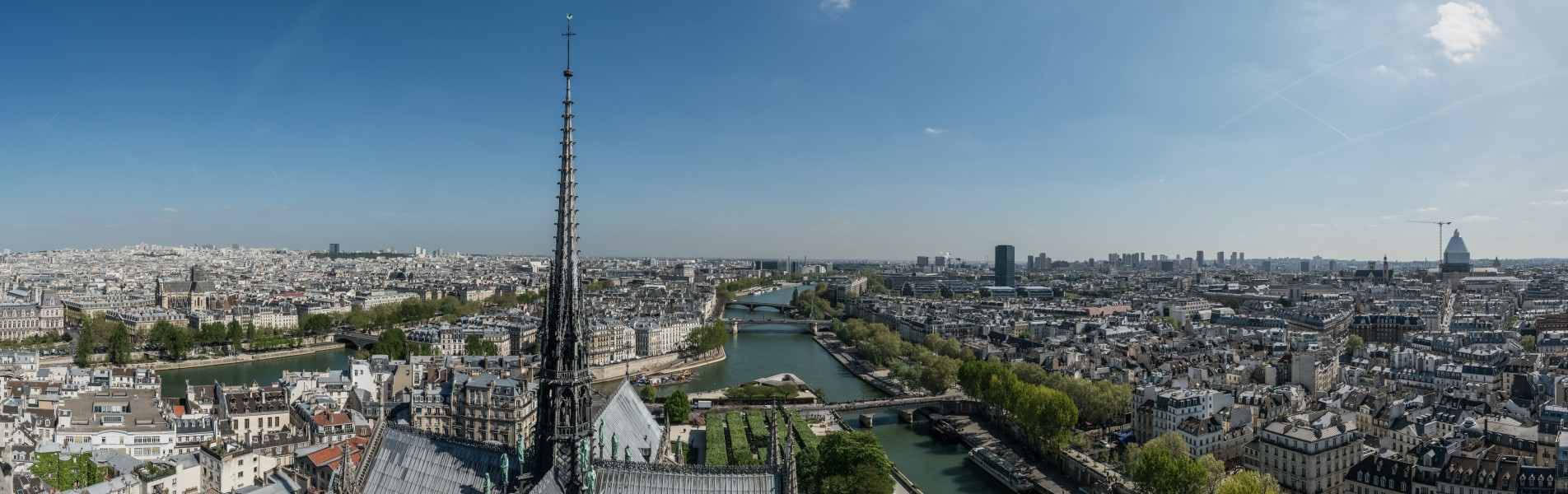 View of East Central Paris as seen from the Towers of Notre-Dame 20140409 1