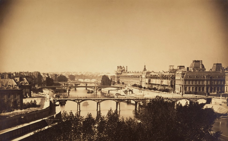 View of the Seine, Paris 1857