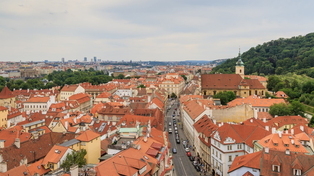 Prague 07-2016 View from Lesser Town Nicholas Church img1