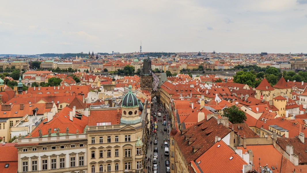 Prague 07-2016 View from Lesser Town Nicholas Church img3