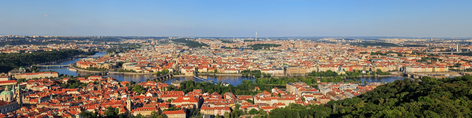Prague 07-2016 View from Petrinska Tower PANO