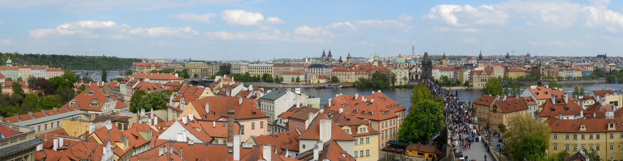 Praha Panorama from Malá Strana Bridge Tower 20170430