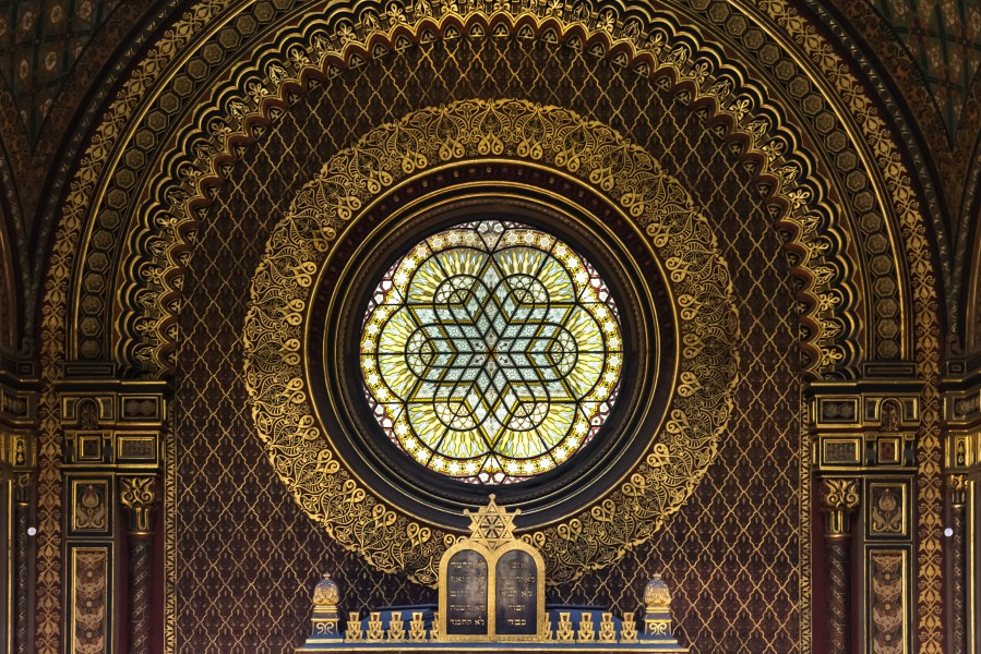 Praha Spanish Synagogue Rose Window 01