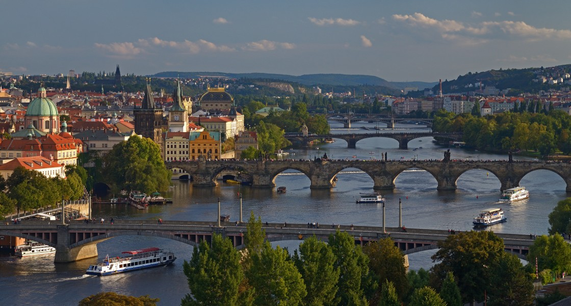 Vltava in Prague at sunset