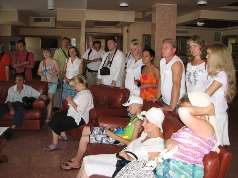 People in a hotel's lobby in Rome, Italy, European Union, August 2011, picture 23.