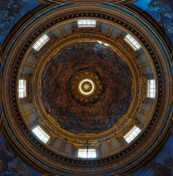 Sant'Agnese in Agone (Rome) - Dome HDR