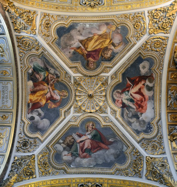 The four evangelists in Santa Maria Maggiore (Rome) - ceiling