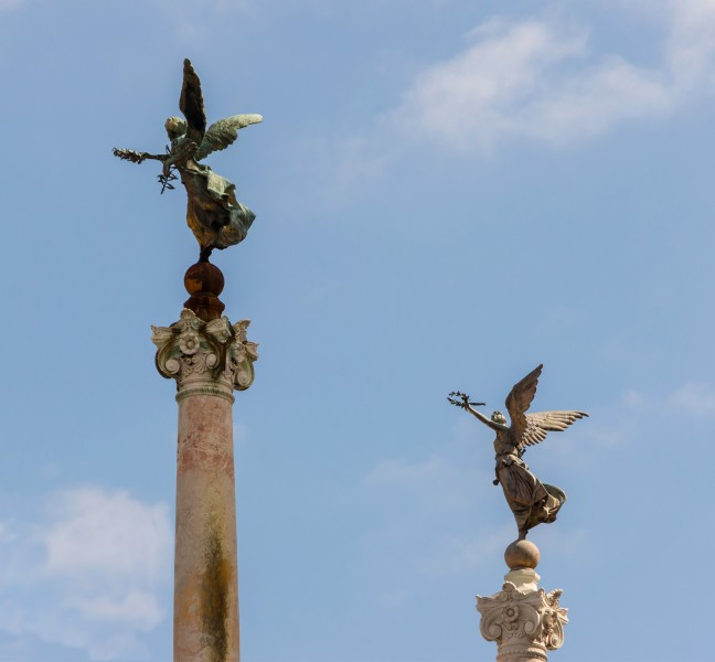 Two winged Victories at the Vittoriano, Rome, Italy