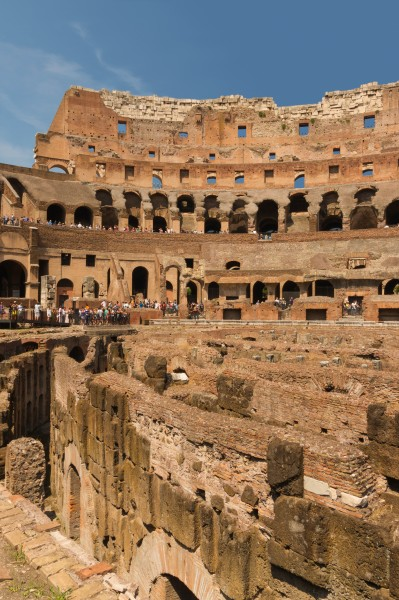 Vertical view Colosseum Rome Italy