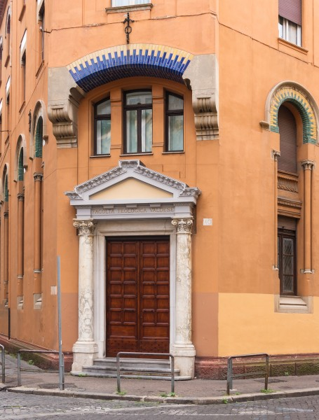 Waldensian theological faculty, entrance, Rome, Italy