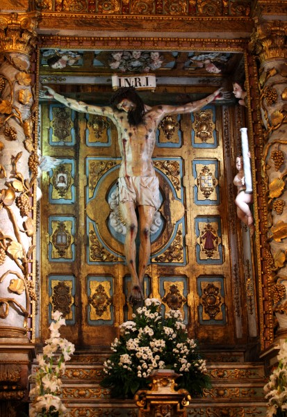 crucifixion in the Santiago de Compostela Cathedral, Galicia, Spain, Europe, August 2013, picture 10