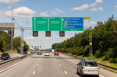 a road near Stockholm city, Sweden, June 2014, picture 1