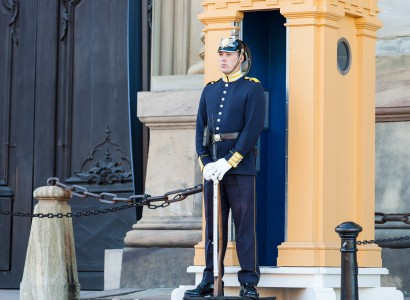 a royal palace guard in Stockholm city, Sweden, June 2014, picture 10