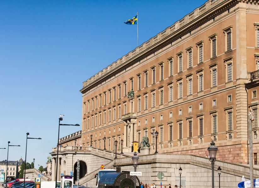 the royal palace in Stockholm city, Sweden, June 2014, picture 20