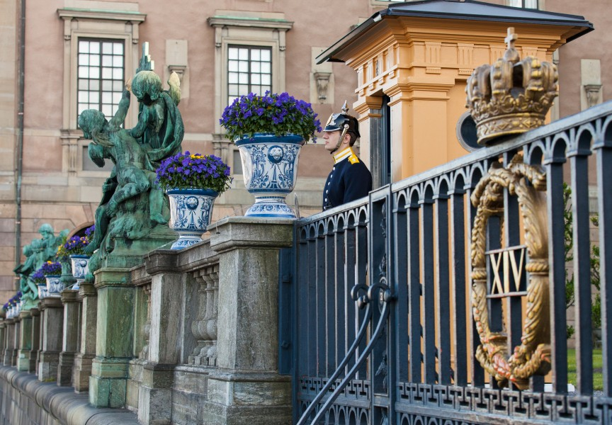 a royal palace guard in Stockholm city, Sweden, June 2014, picture 40