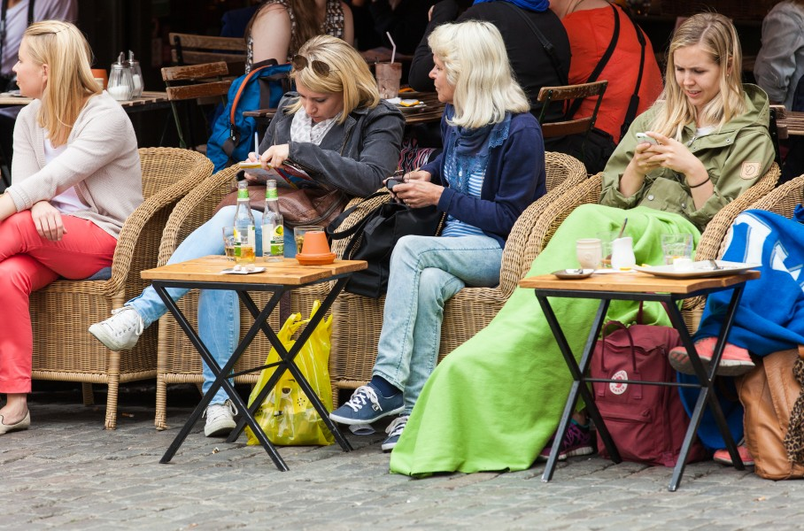 people in Stockholm city, Sweden, June 2014, picture 48