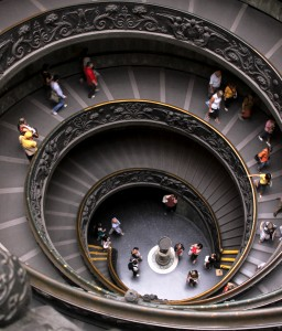 Rome - Vatican Museum - Spiral Staircase by Giuseppe Momo - 0673 v2 cropped