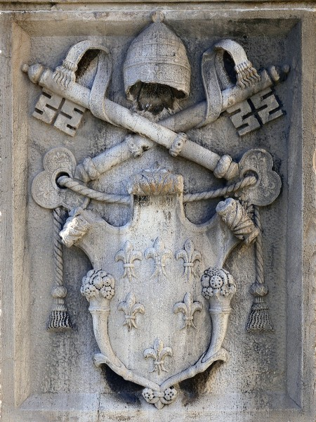 Coat of arms of the Vatican in todi