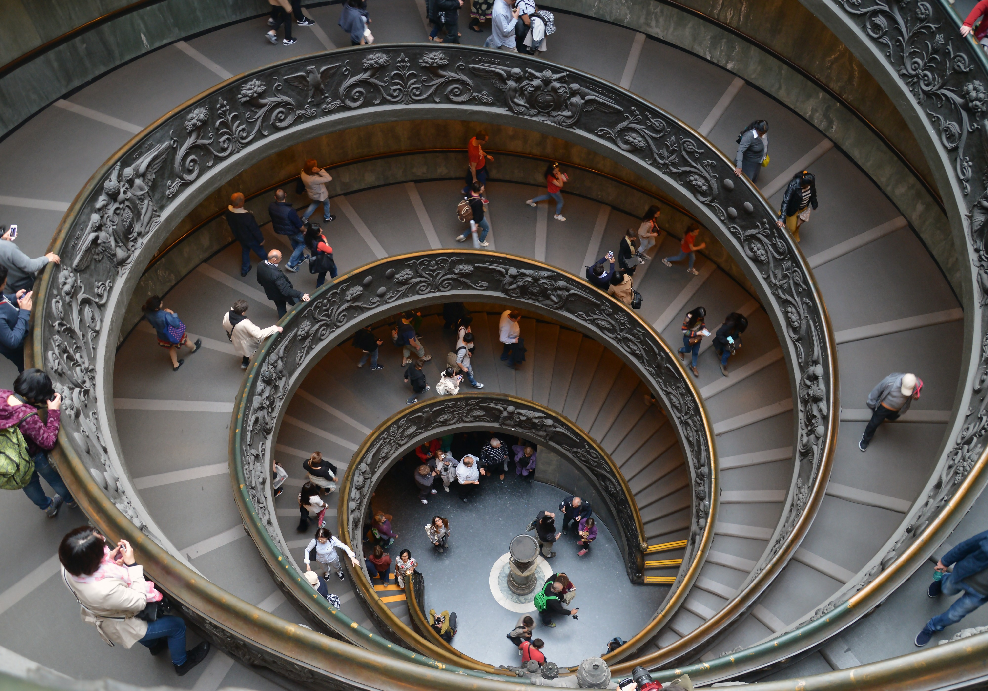 Circular staircase of the Vatican Museums