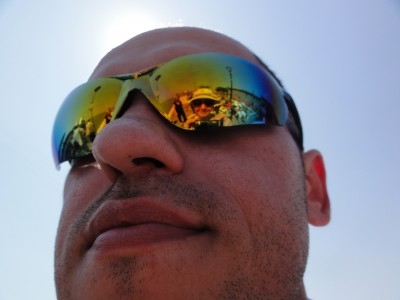 a man in sunglasses in Venice, Italy, picture 1
