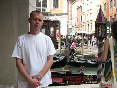 A man in Venice, Italy, European Union, August 2011, picture 1