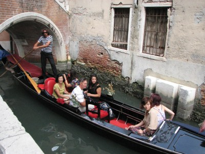 People in gondola in Venice, Italy, European Union, August 2011, picture 3