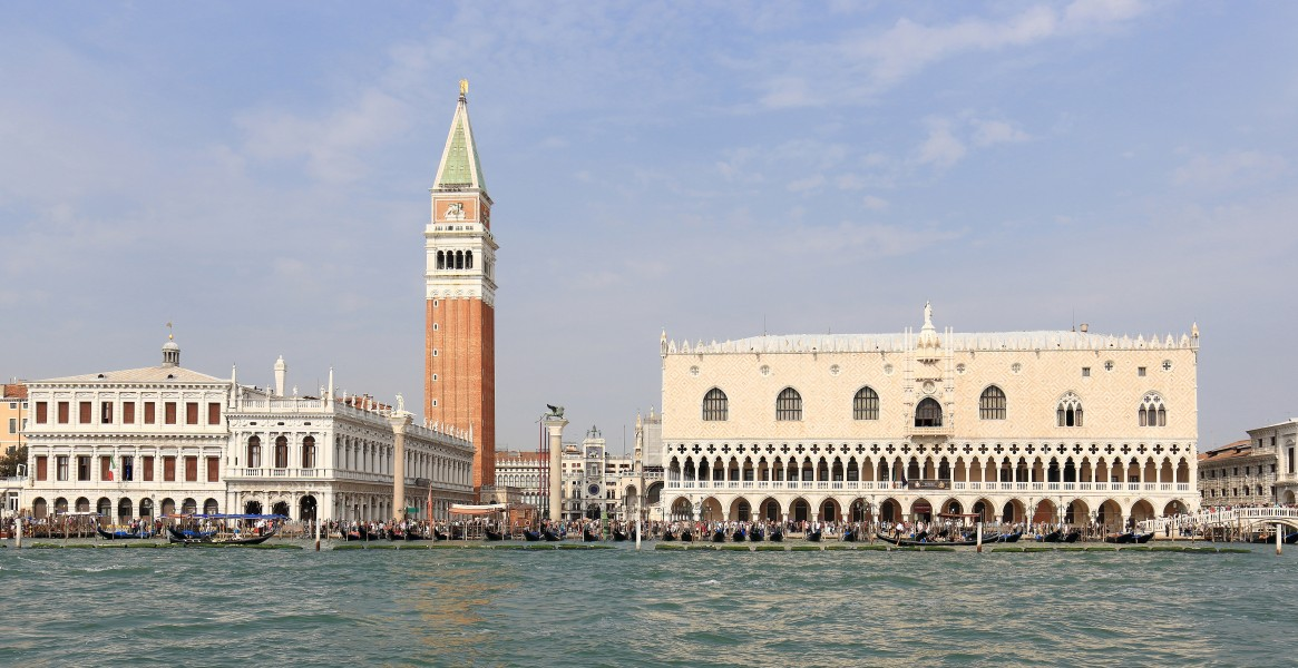 Saint Mark's Campanile and Palazzo Ducale, Venice, September 2017 -2