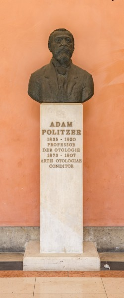 Adam Politzer (1835-1920), physician, Nr. 135, bust (bronze) in the Arkadenhof of the University of Vienna-3246-HDR