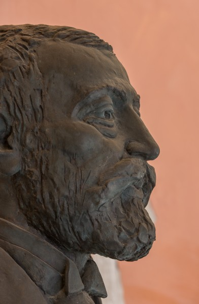 Adam Politzer (1835-1920), physician, Nr. 135, bust (bronze) in the Arkadenhof of the University of Vienna-3630