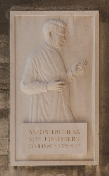 Anton von Eiselsberg (1860-1939), physician, Nr. 132, basrelief (marble) in the Arkadenhof of the University of Vienn-3528