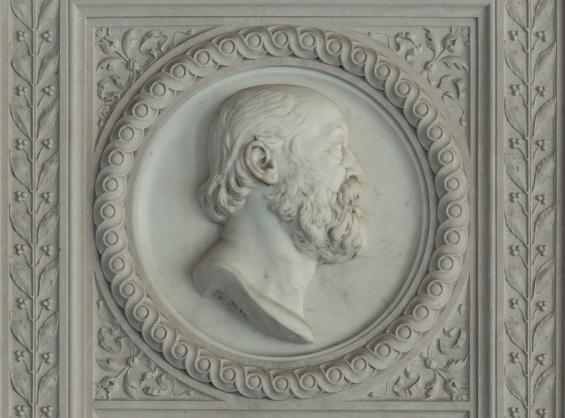 Carl Braun von Fernwald (1823-1891), Nr. 114, plaque and basrelief (marble) in the Arkadenhof of the University of Vienna-2983