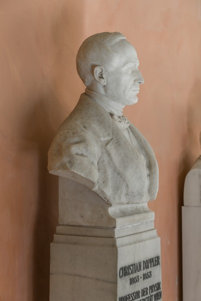 Christian Doppler (1803-1853), Nr. 111, bust (marble) in the Arkadenhof of the University of Vienna-2930