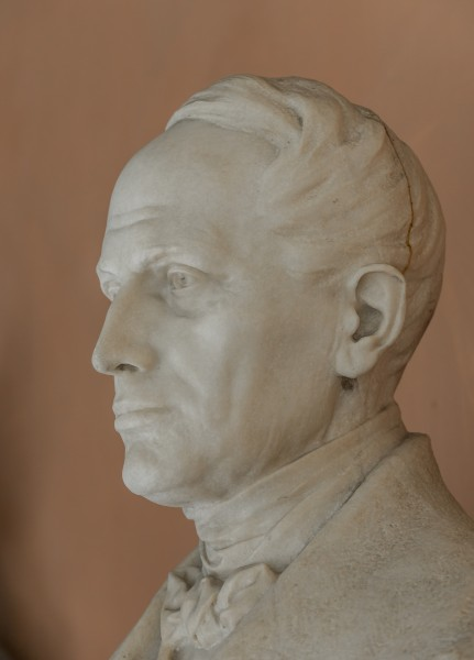 Christian Doppler (1803-1853), Nr. 111, bust (marble) in the Arkadenhof of the University of Vienna-2937