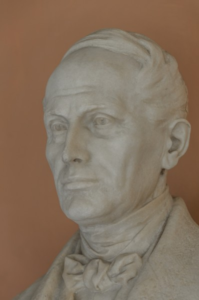 Christian Doppler (1803-1853), Nr. 111, bust (marble) in the Arkadenhof of the University of Vienna-2939