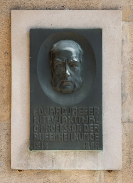Eduard Jäger von Jaxtthal (1818-1884), Nr. 138, plaque (bronce) in the Arkadenhof of the University of Vienna-3181-HDR