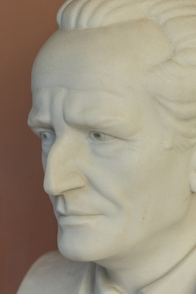 Erwin Schrödinger (1887-1961), Nr. 112, bust (marble) in the Arkadenhof of the University of Vienna-2965