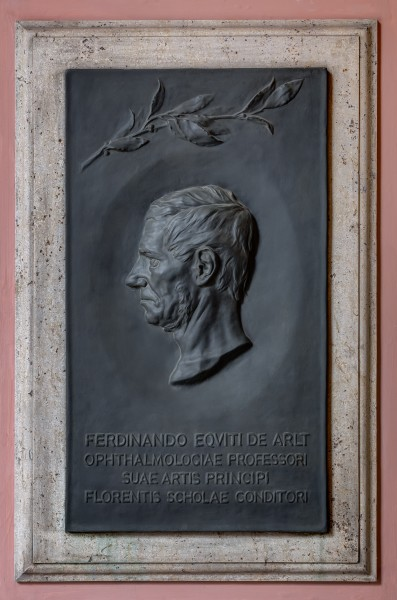 Ferdinand von Arlt (1812-1887), Nr. 80 basrelief (bronze) in the Arkadenhof of the University of Vienna-1402