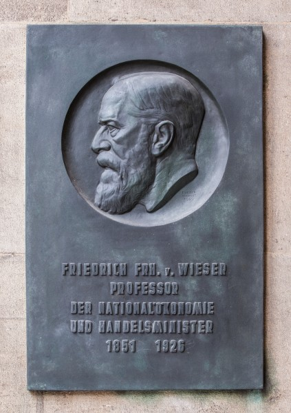 Friedrich von Wieser (Nr. 12) Basrelief in the Arkadenhof, University of Vienna-1331