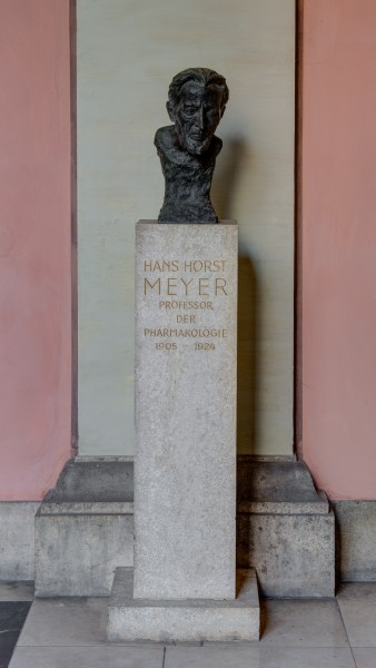Hans Horst Meyer (1853-1939), Nr. 78, bust (bronze) in the Arkadenhof of the University of Vienna-1349