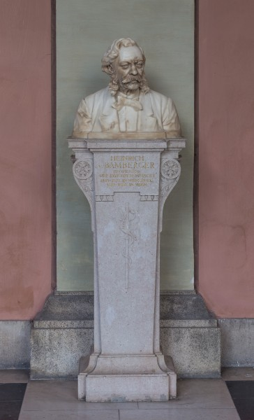 Heinrich von Bamberger (1822-1888), Nr. 70 bust (marble) in the Arkadenhof of the University of Vienna-1289