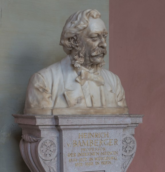 Heinrich von Bamberger (1822-1888), Nr. 70 bust (marble) in the Arkadenhof of the University of Vienna-1294