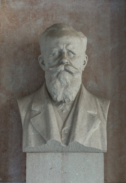 Hermann Nothnagel (1841-1905), physician, Nr. 119, bust (marble) in the Arkadenhof of the University of Vienna-3007