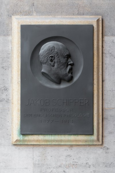 Jakob Schipper (1842-1915), Nr. 100 basrelief (bronze) in the Arkadenhof of the University of Vienna-2520